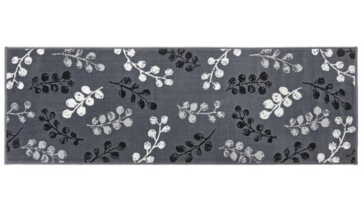 Argos Home Pod Leaf Runner - 67x200cm - Grey