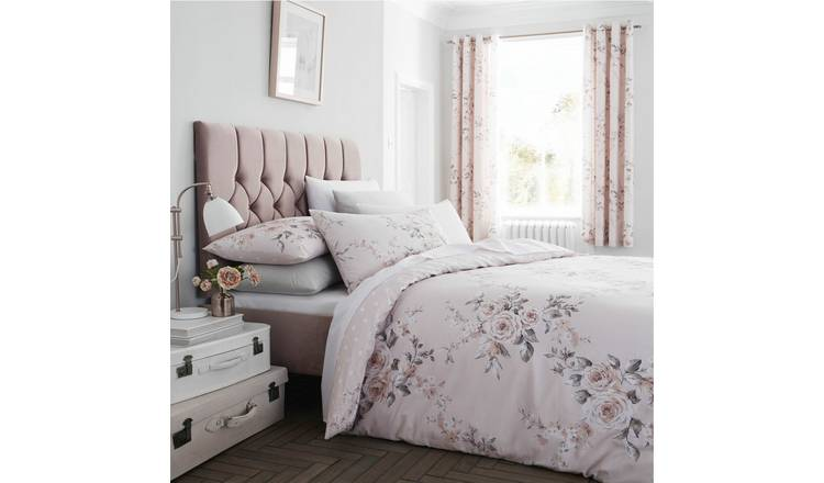 Catherine Lansfield Blush Canterbury Bedding Set - Double