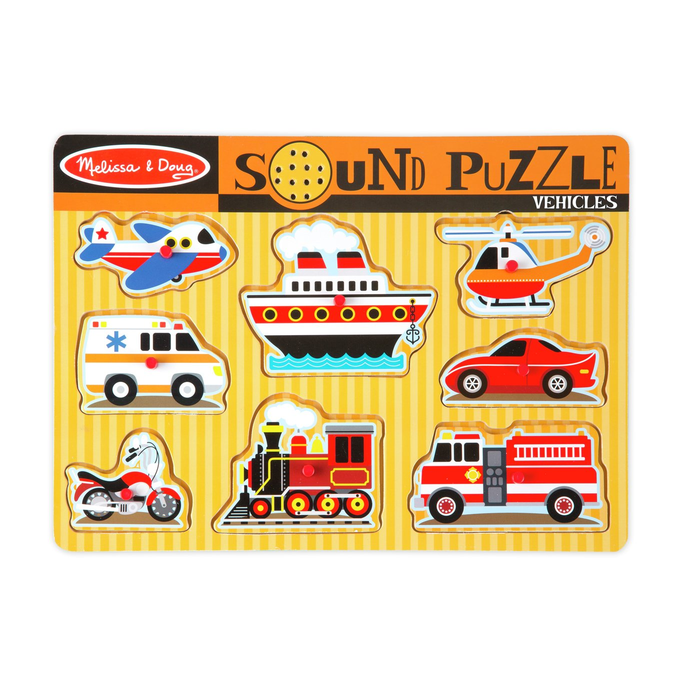 Melissa & Doug Vehicle and Sounds Puzzle