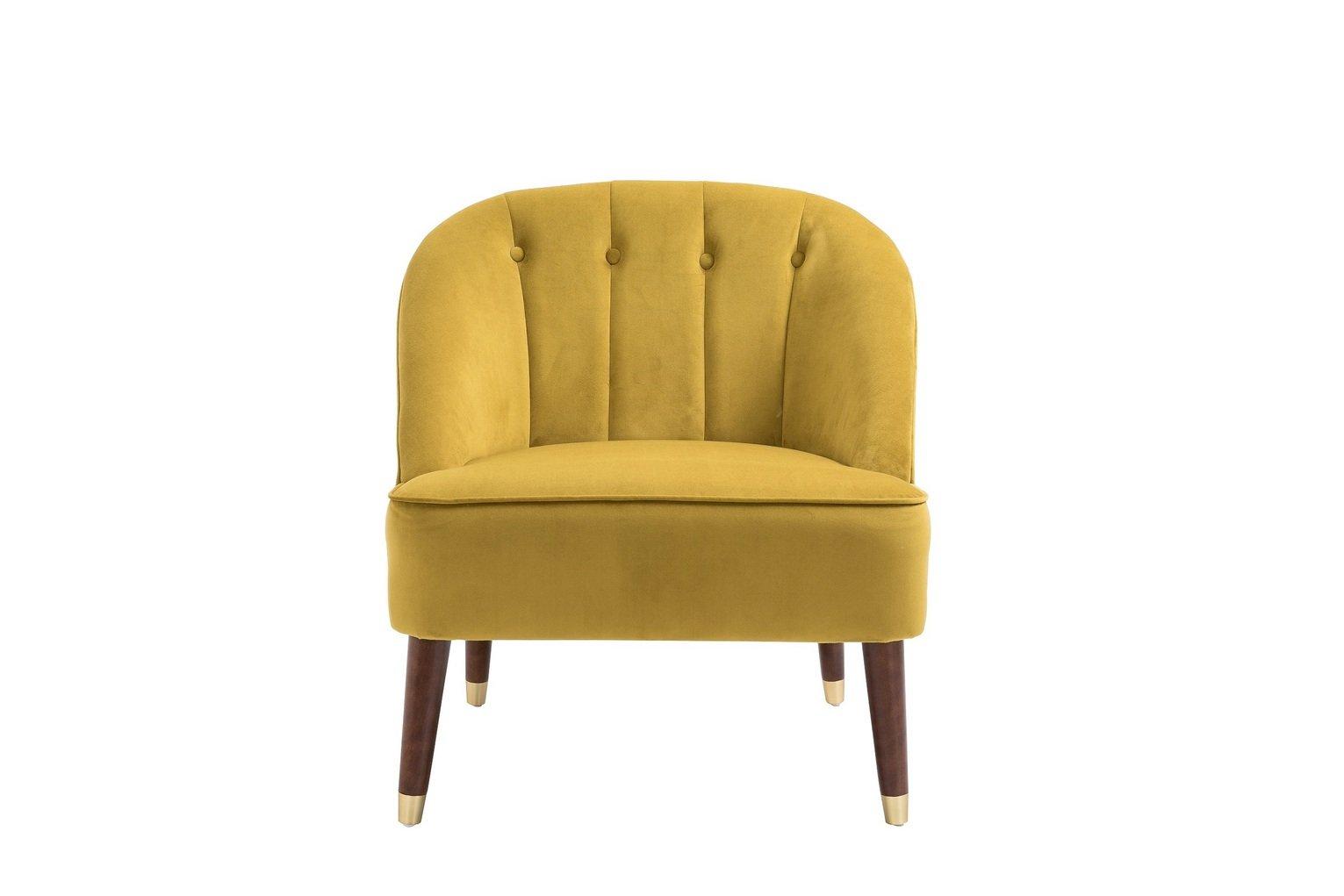 Birlea Alexa Fabric Accent Chair - Mustard