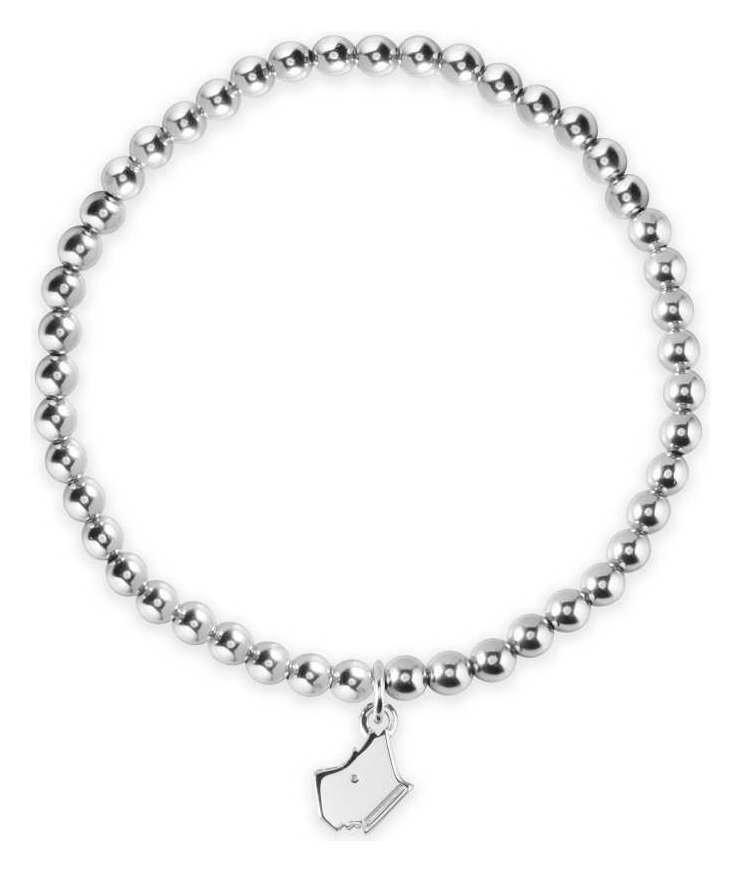 Radley Sterling Silver Ball Chain Dog Bracelet