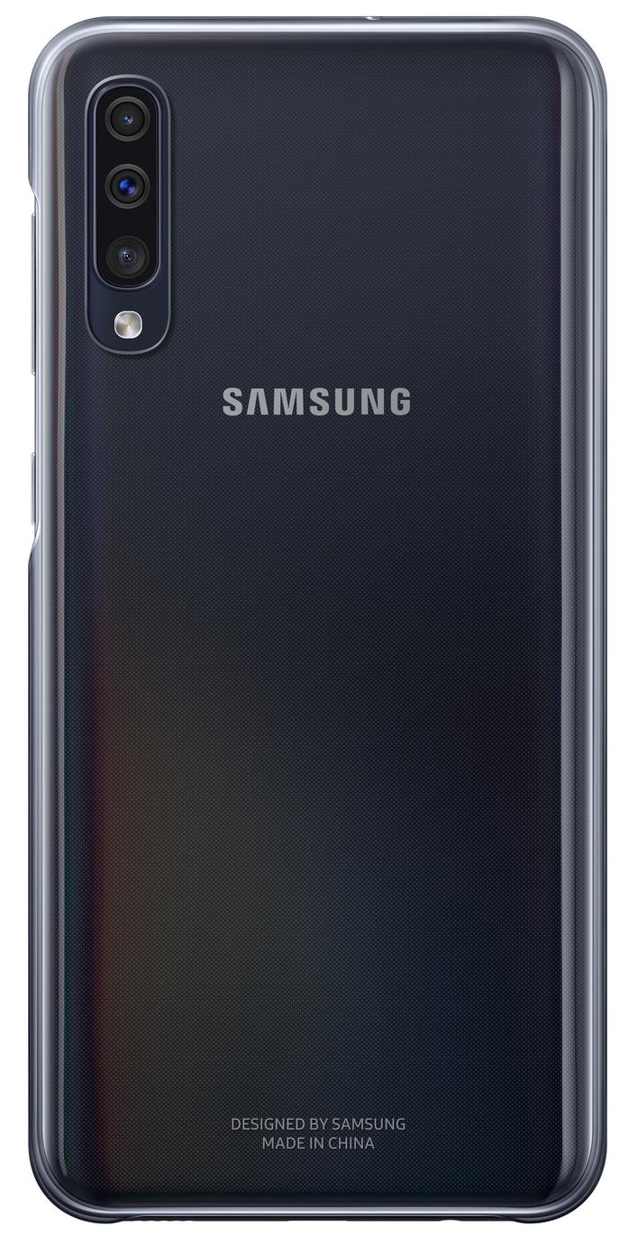 Samsung Galaxy A50 Gradation Phone Cover - Black