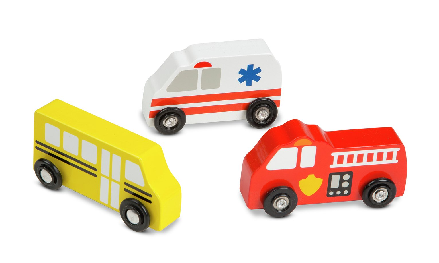 Melissa and Doug Wooden Town Vehicles