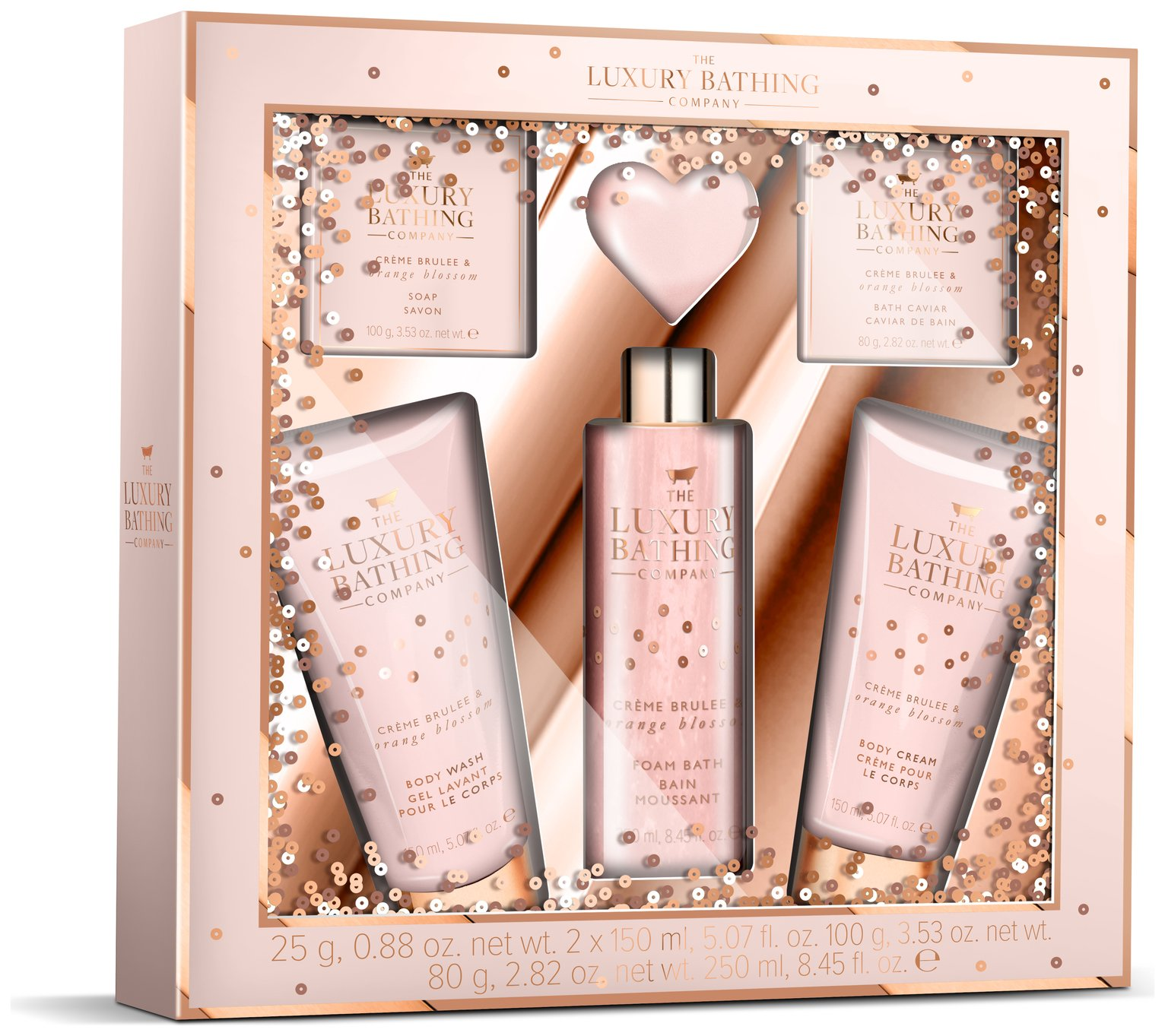 The Luxury Bathing Company Creme Brule Gift Set