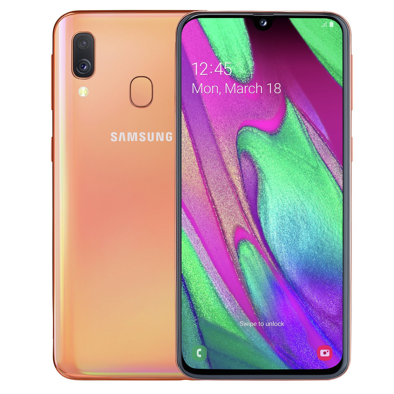 SIM Free Samsung A40 64GB Mobile Phone - Coral