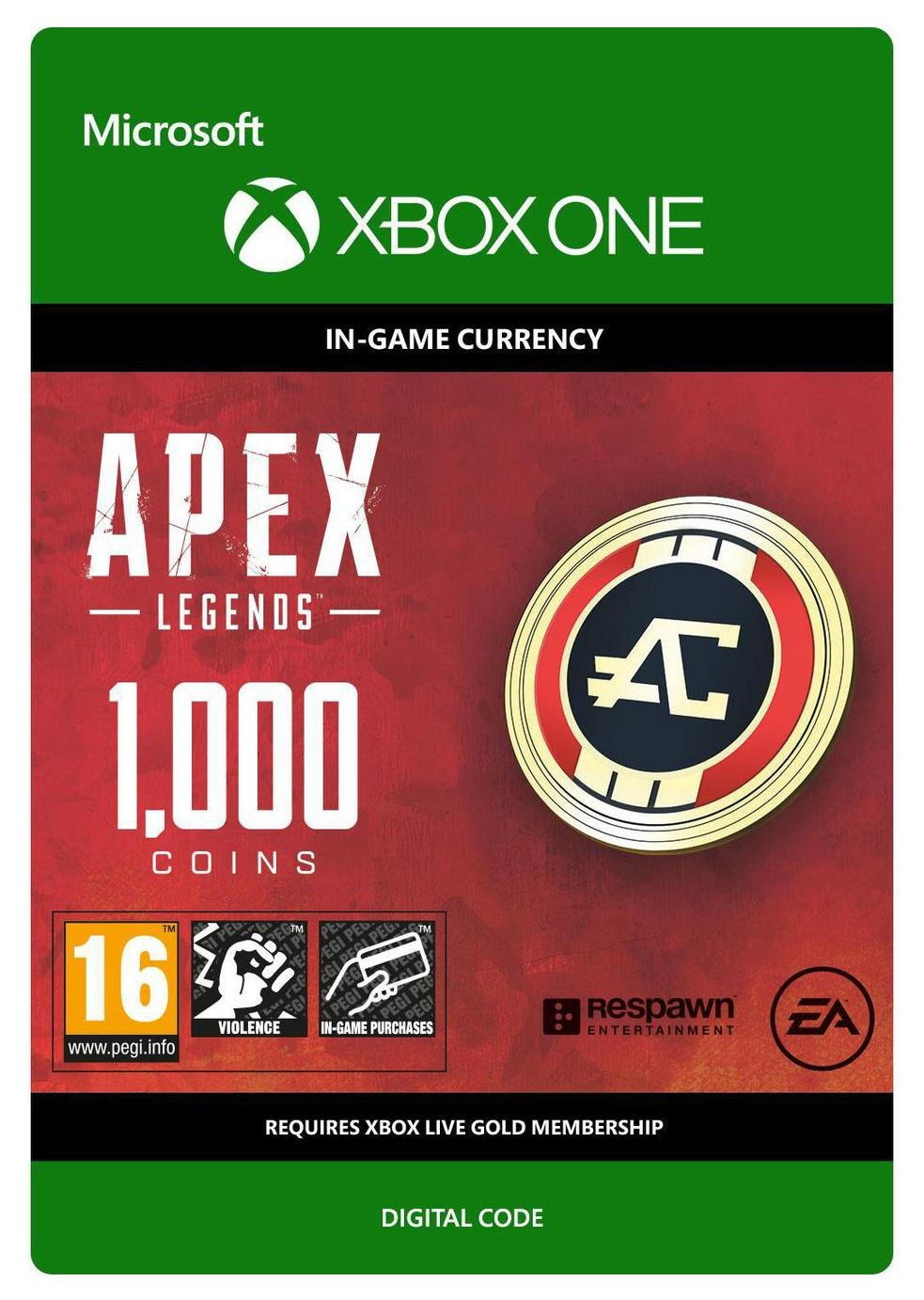 Apex Legends 1000 Coins Xbox One Receipt Code