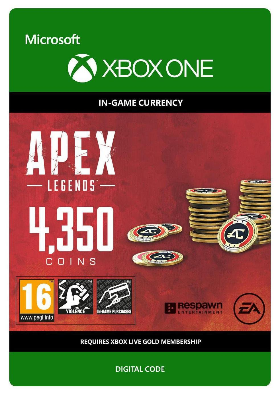 Apex Legends 4350 Coins Xbox One Receipt Code