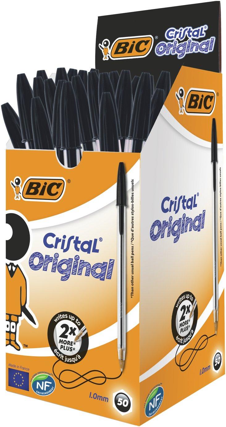 BIC Pack of 50 Ballpoint Pens - Black