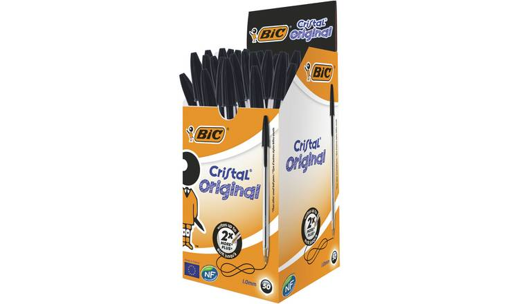 BIC Pack of 50 Ballpoint Pens - Black
