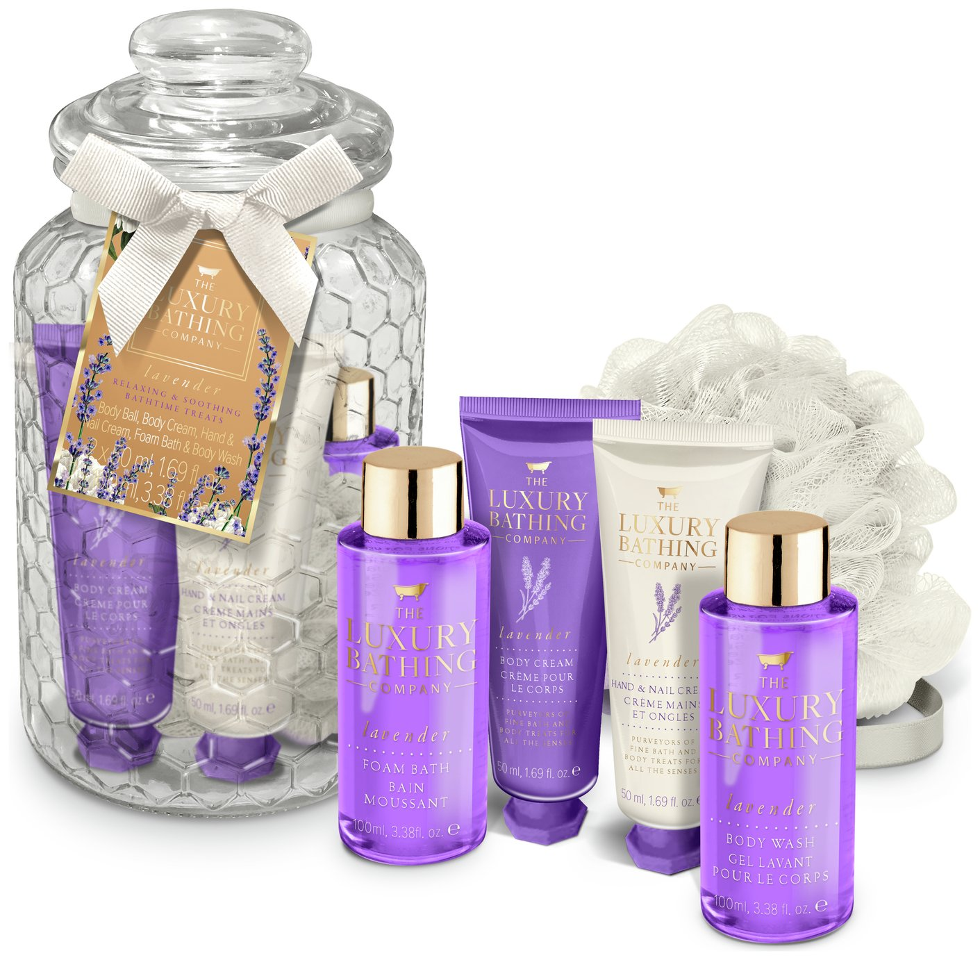 The Luxury Bathing Company Grace Cole Lavender Bath Set
