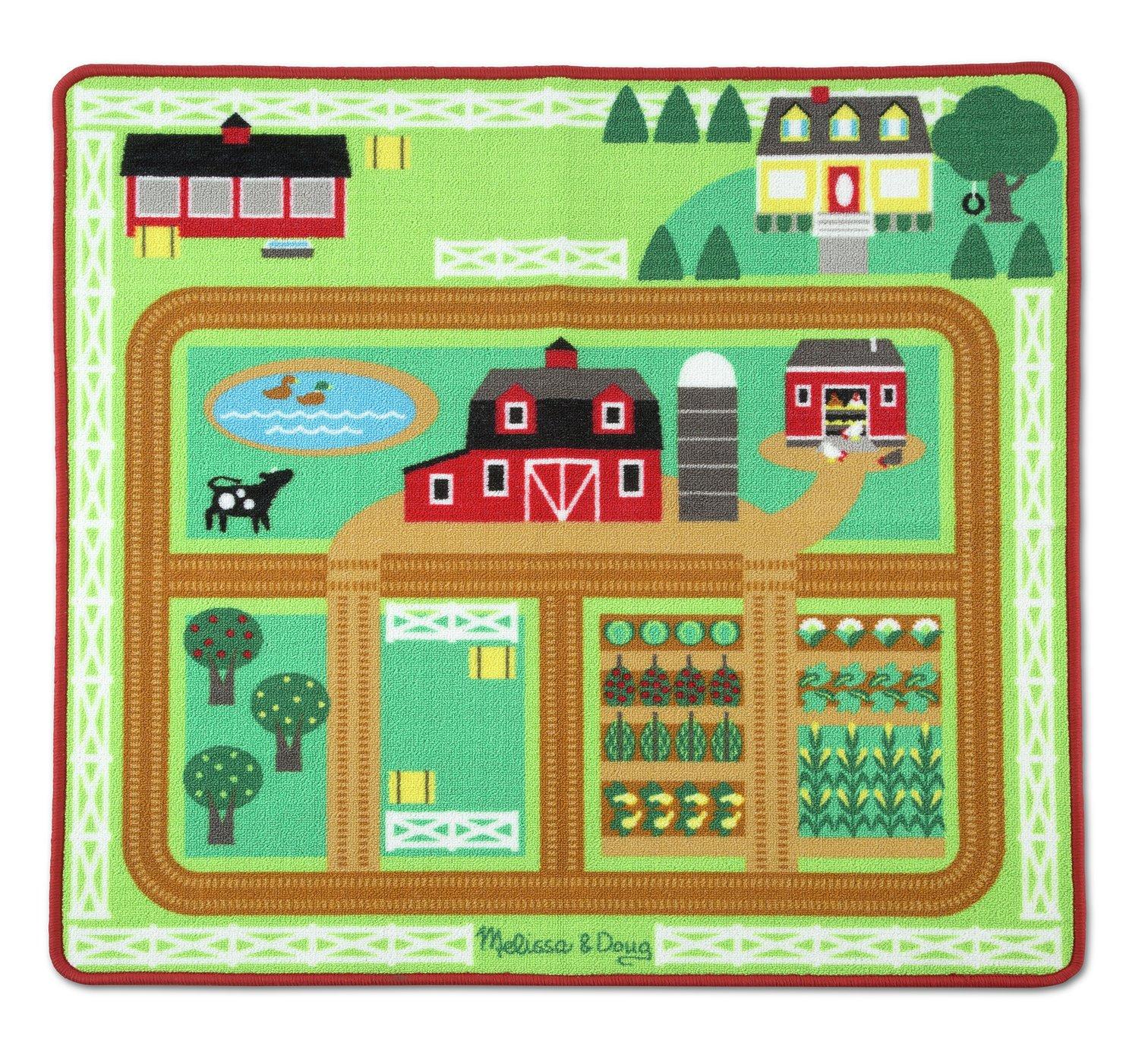 Melissa and Doug Around the Barnyard Farm Rug
