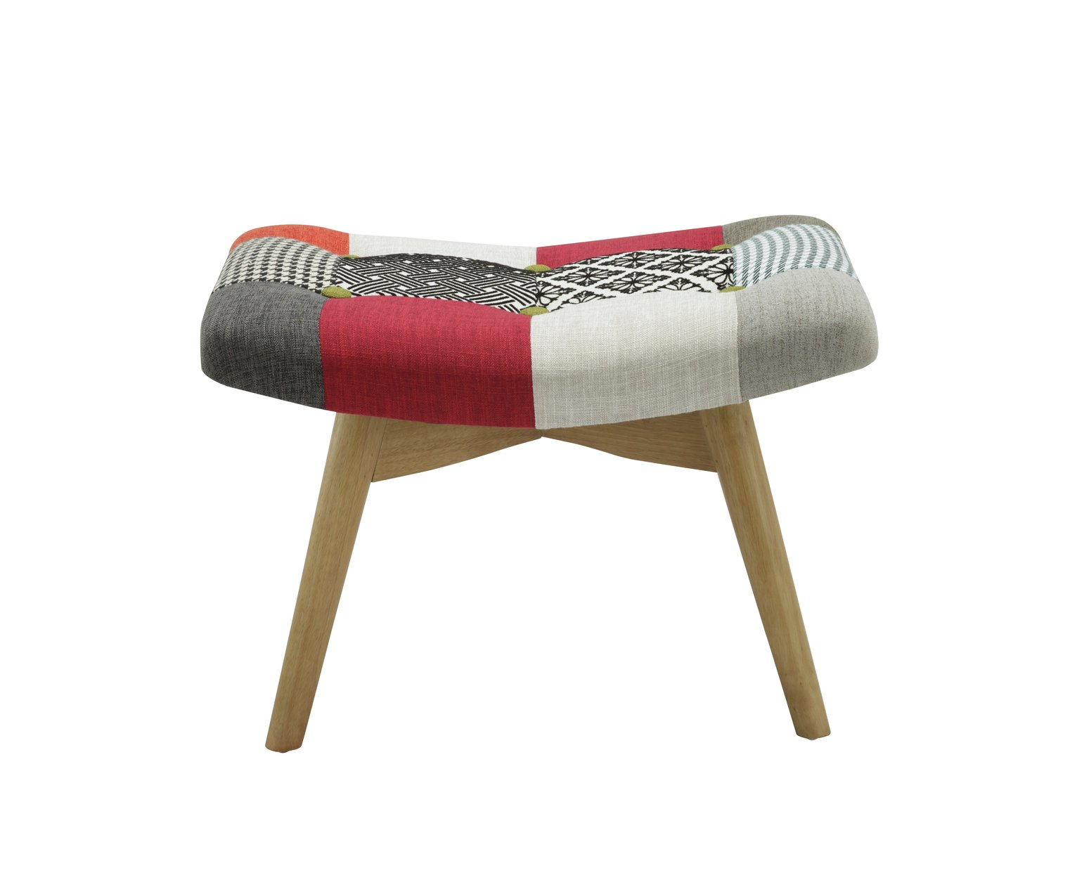 Birlea Sloane Fabric Footstool - Multicoloured