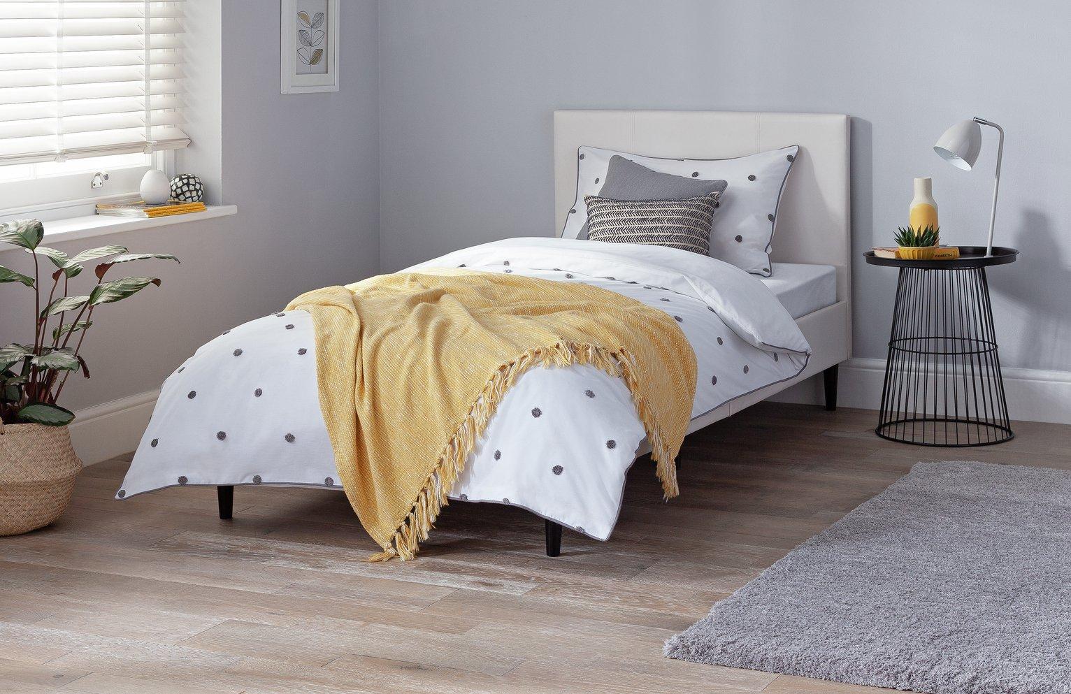 Argos Home Skylar Single Bed Frame - White