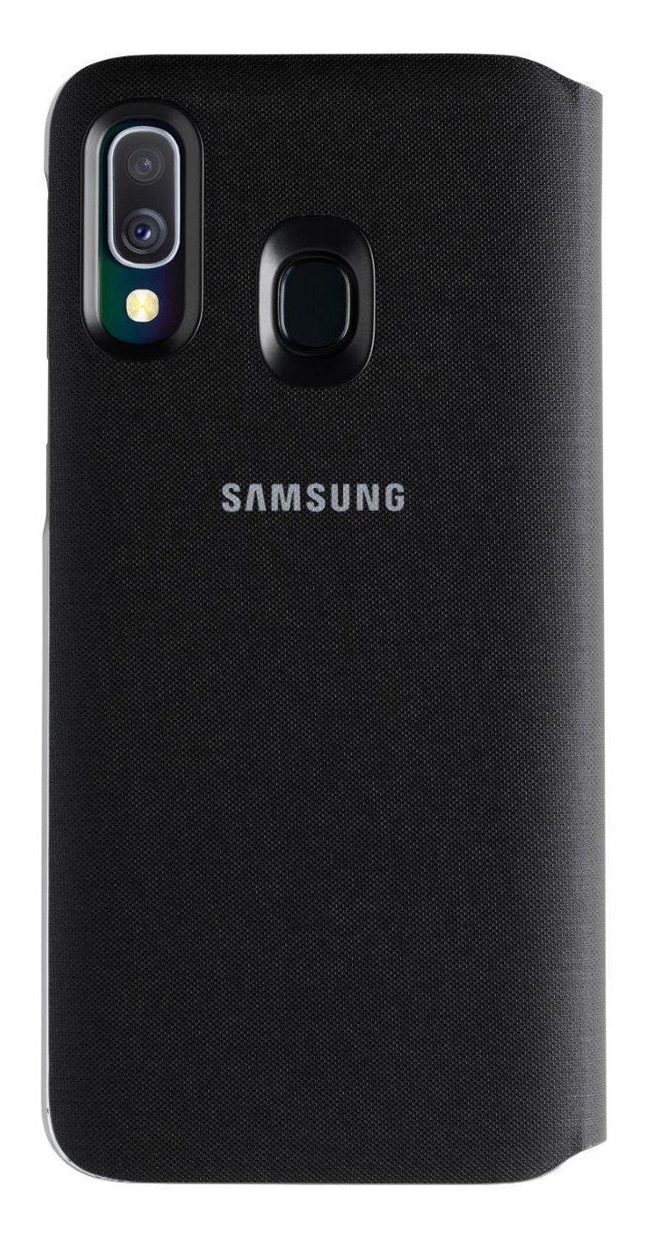 Samsung Galaxy A40 Wallet Phone Cover - Black