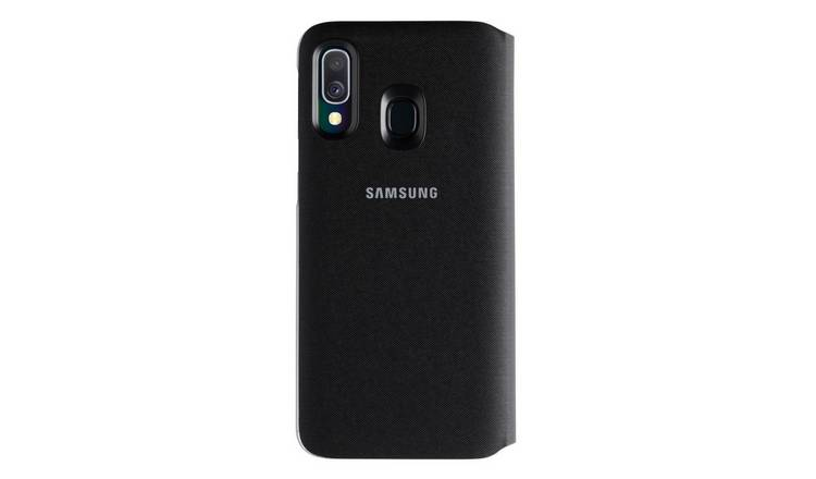 Samsung Galaxy A40 Wallet Phone Cover - Black