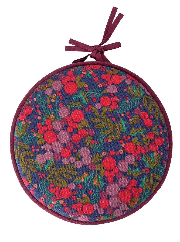 Argos Home Berry Christmas Round Seat Cushion