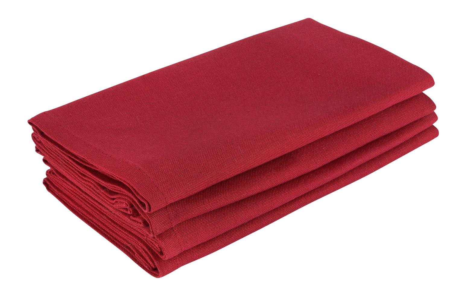 Argos Home Berry Christmas Red Napkins - 4 Pack
