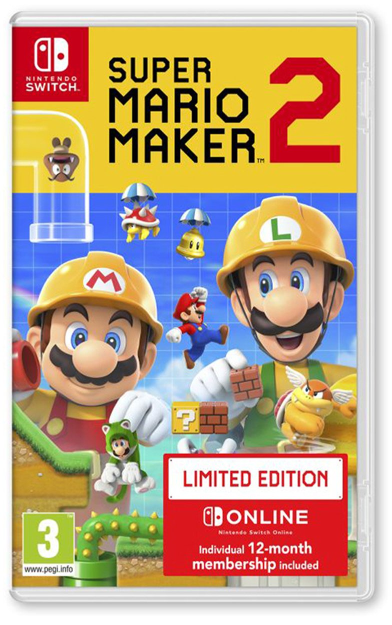 Super Mario Maker 2 Limited Edition Nintendo Switch Game (1211733)   Argos  Price Tracker   pricehistory.co.uk