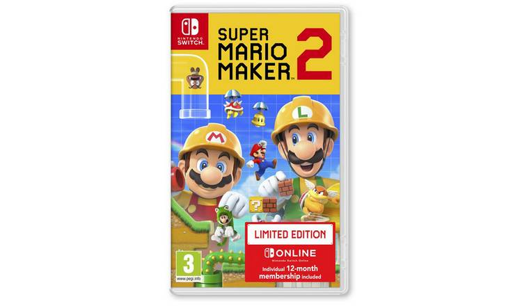 Super Mario Maker 2 Limited Edition Nintendo Switch Game by Argos