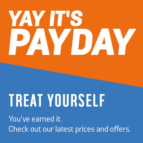 Treat yourself, you've earned it. Check out our latest prices and offers.