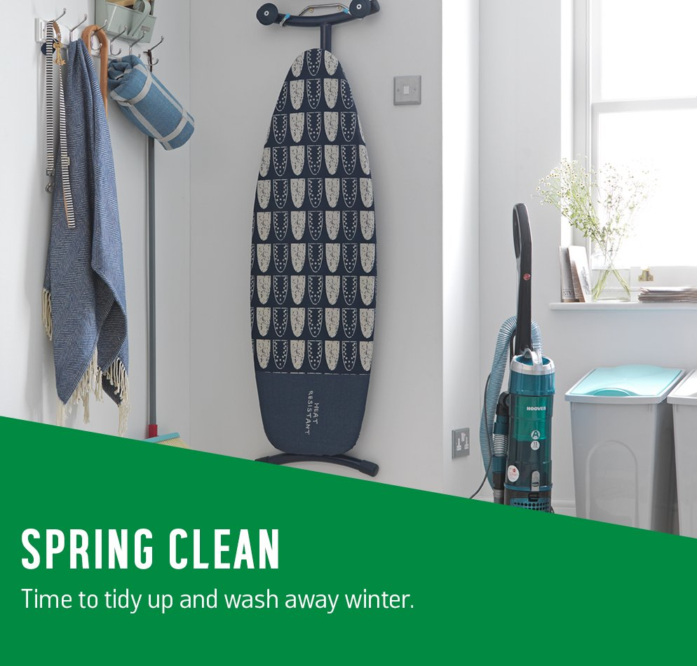 Spring clean. Time to tidy up and wash away winter.