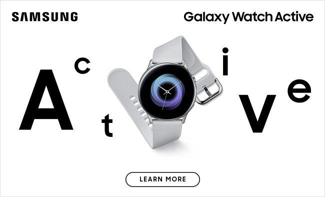 Samsung Galaxy Watch Active.