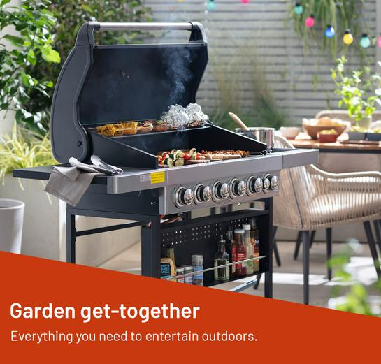 Garden get-together. Everything you need to entertain outdoors.