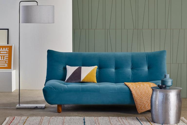 Habitat Kota 3 Seater Velvet Sofa Bed - Teal.