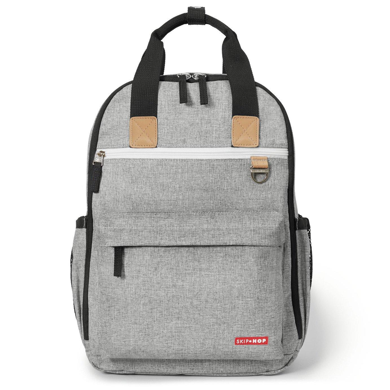 Skip Hop Duo Backpack Changing Bag - Grey Melange