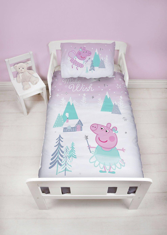 Peppa Pig Sugarplum Christmas Bedding Set - Toddler