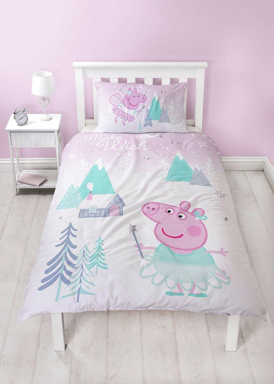 Peppa Pig Sugarplum Christmas Bedding Set - Single