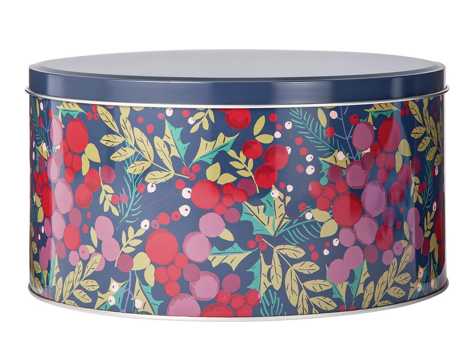 Argos Home Berry Christmas Cake Tin