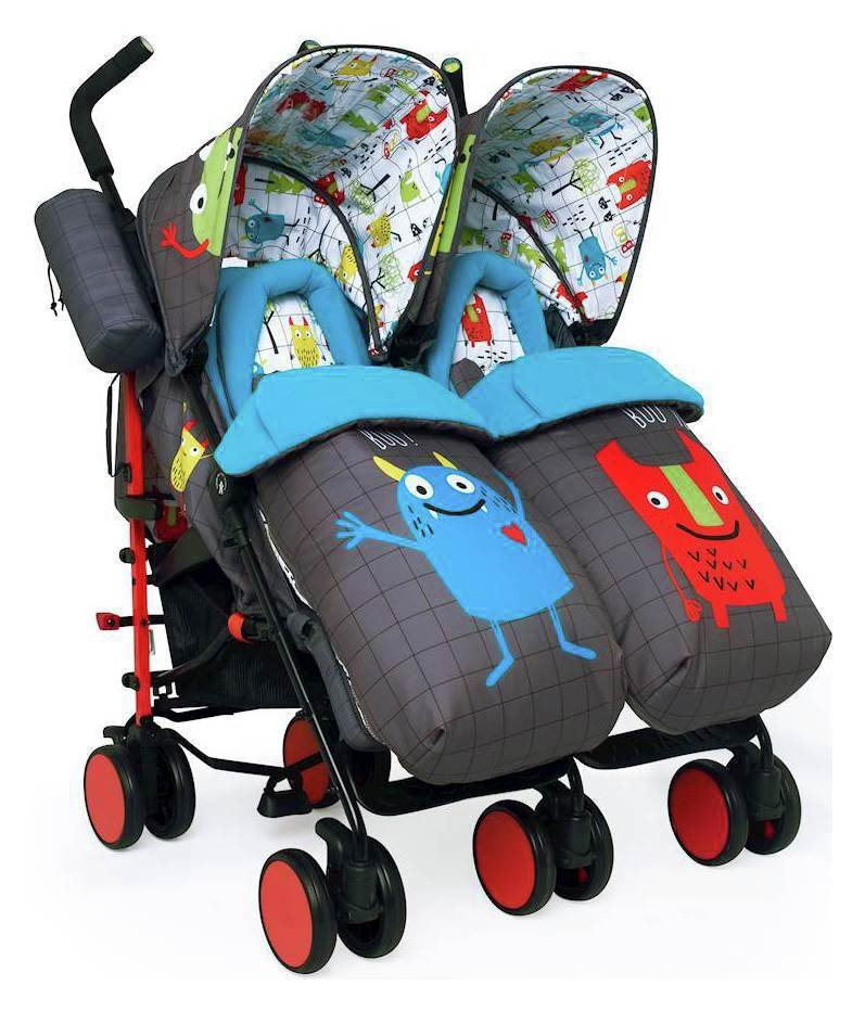 Cosatto Supa Dupa Double Pushchair - Monster Mob