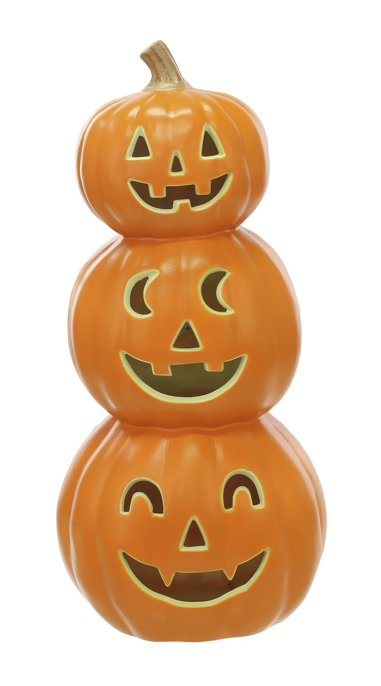 Argos Home Halloween Light Up Pumpkin Stack