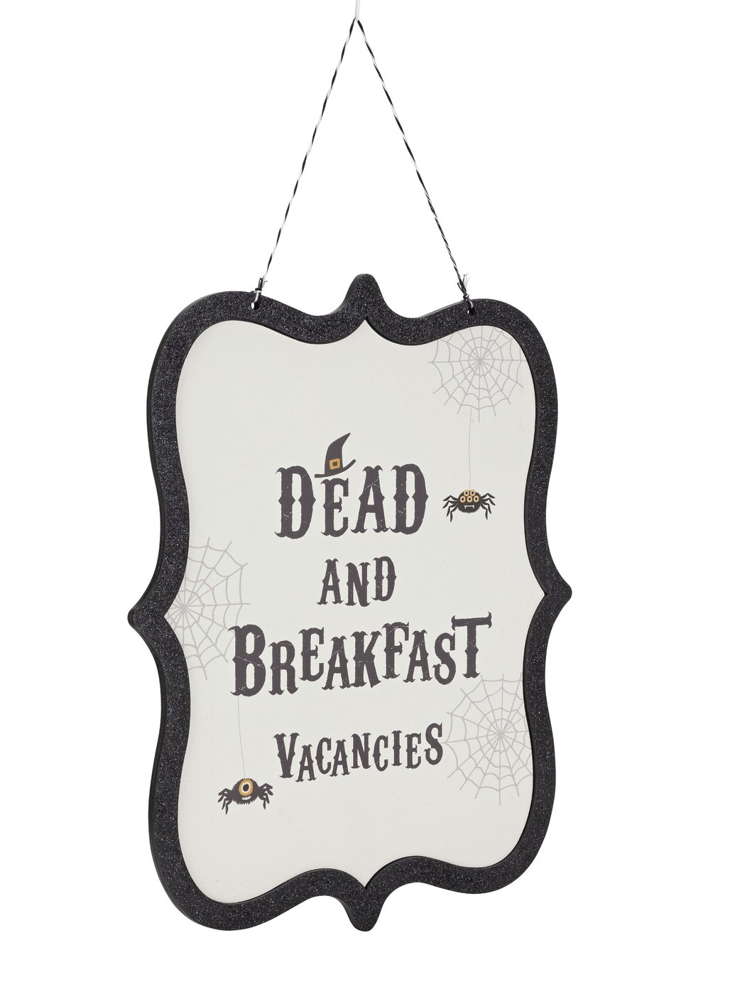 Halloween Dead & Breakfast Hanging Sign