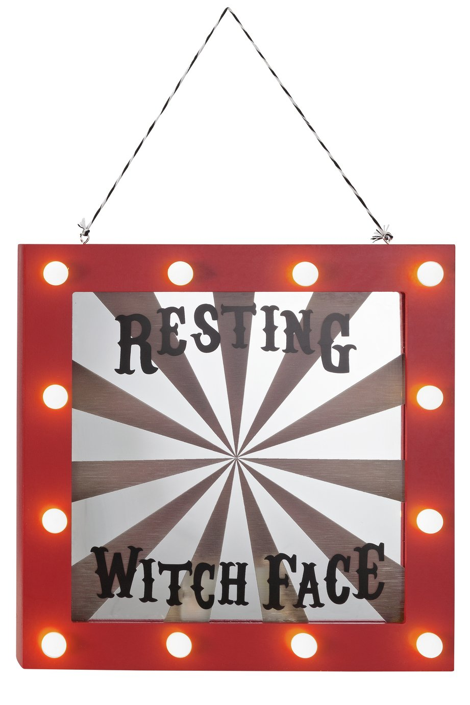 Halloween Resting Witch Light Up Mirror