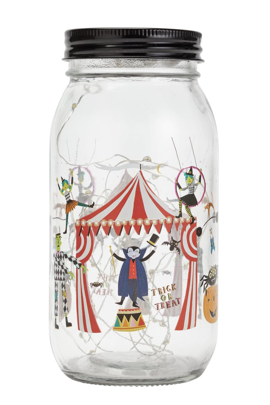 Halloween Circus Light Up Jar