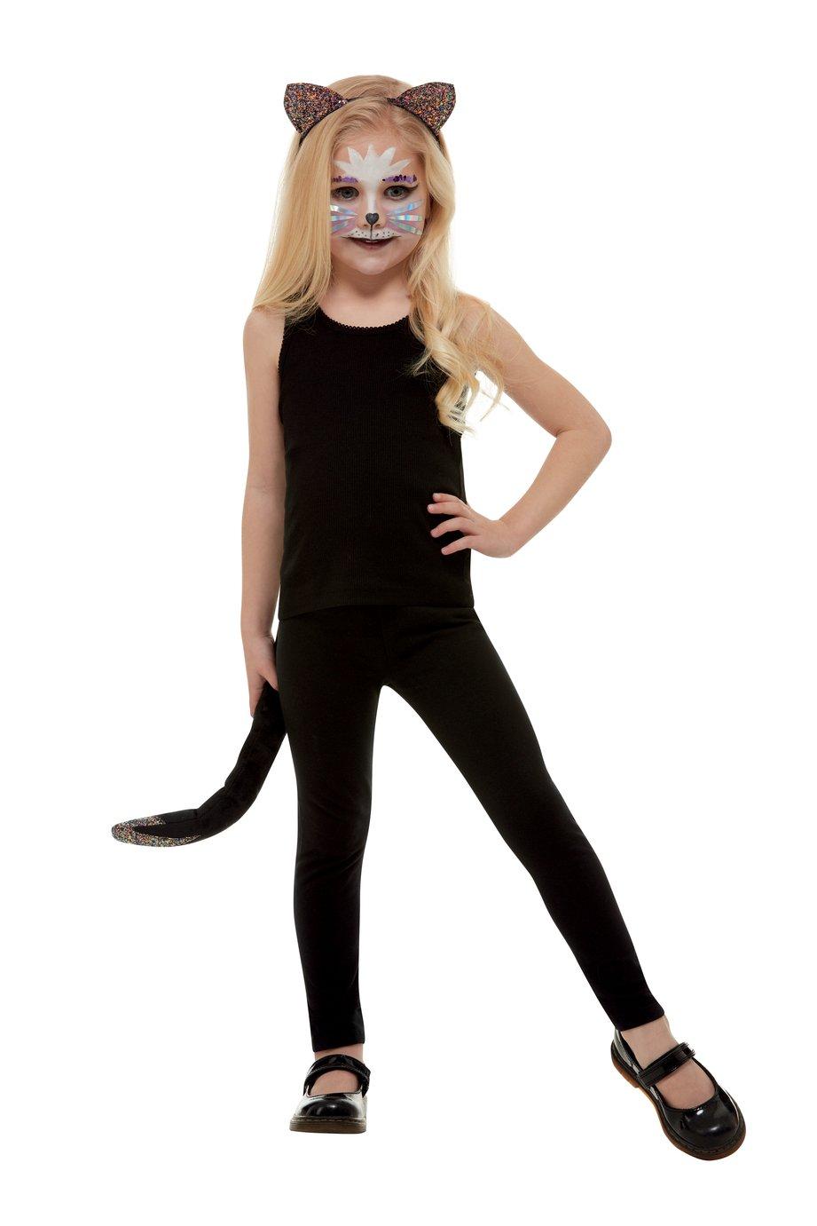 Illusions Halloween Dark Glitter Cat Dress Up Set