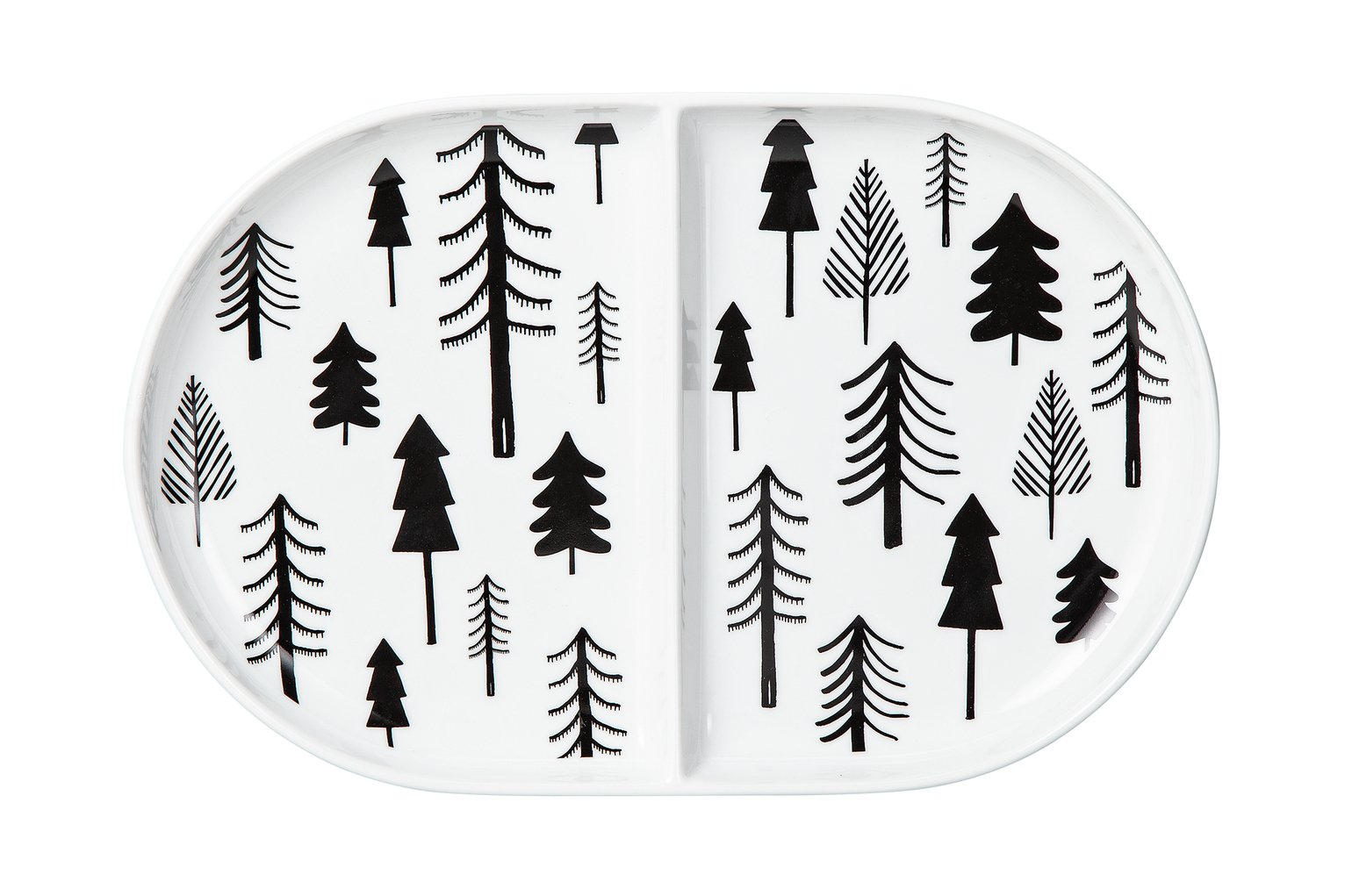 Argos Home Noir Printed Divider Plate