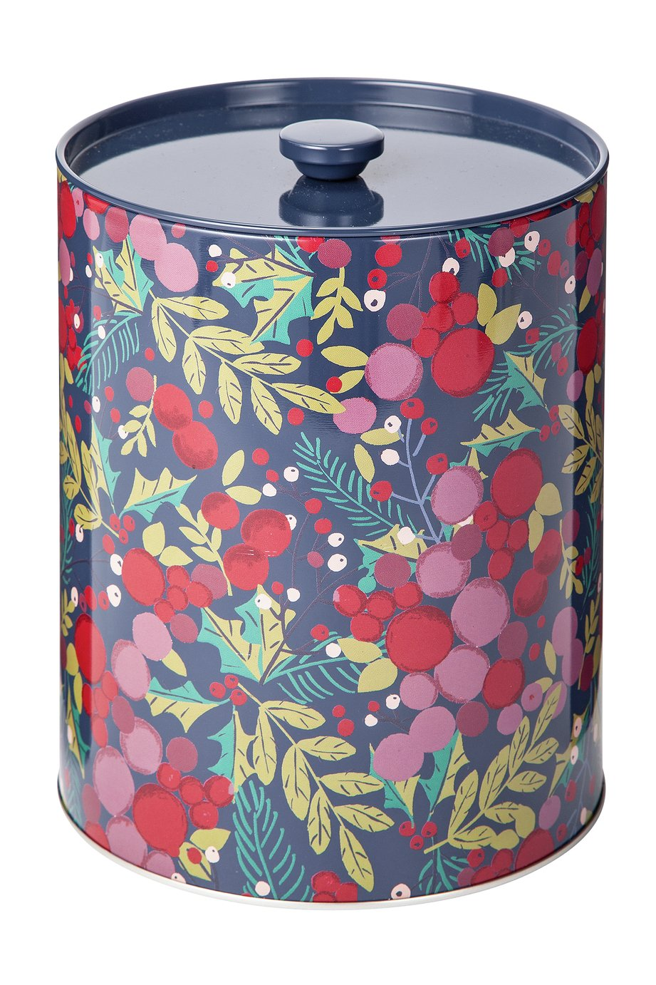 Argos Home Berry Christmas Tall Biscuit Tin