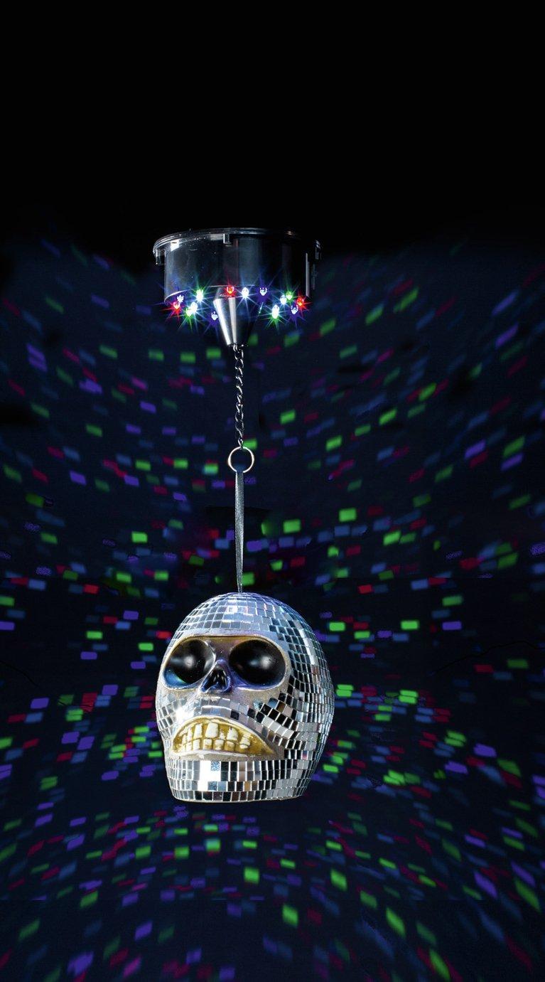 Premier Decorations 56cm Skull Disco Light
