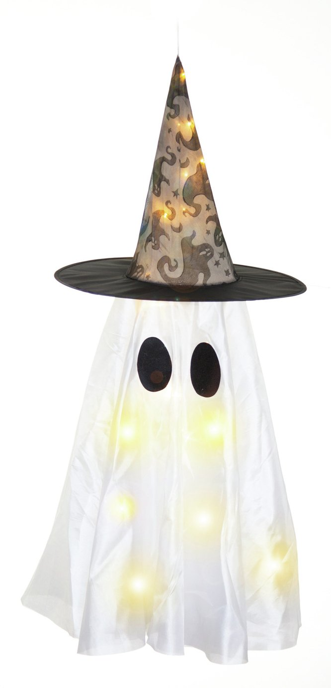 Premier Decorations Light Up White Hanging Ghost