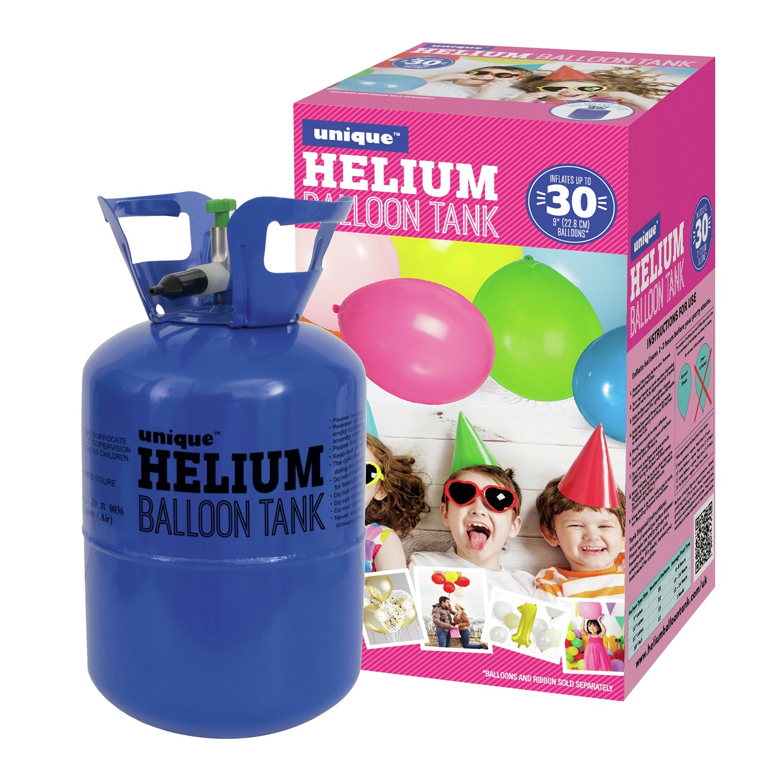 Unique Party Helium Canister For Thirty 9 Inch Balloons