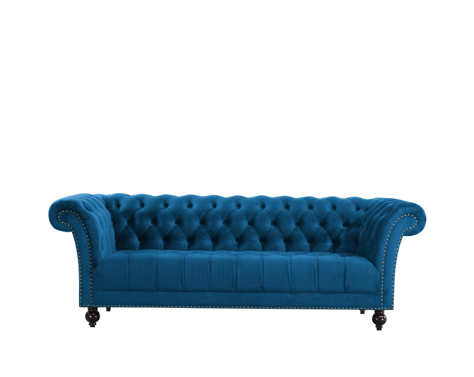 Birlea Chester 3 Seater Fabric Sofa - Blue