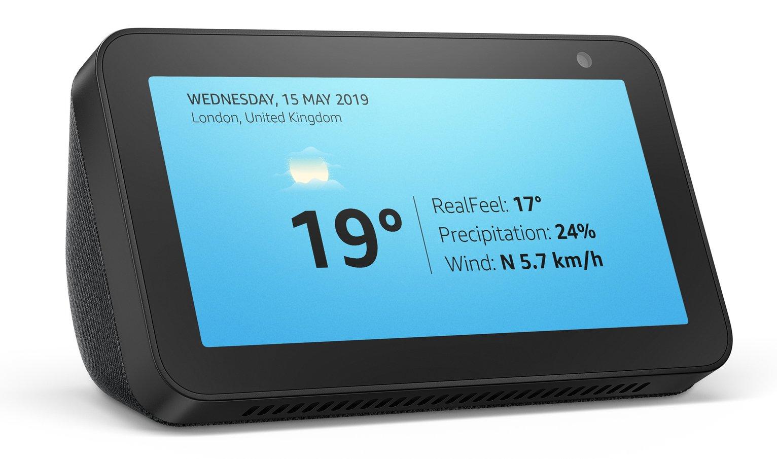 Amazon Echo Show 5 (1st Gen) Smart Display with Alexa -Black
