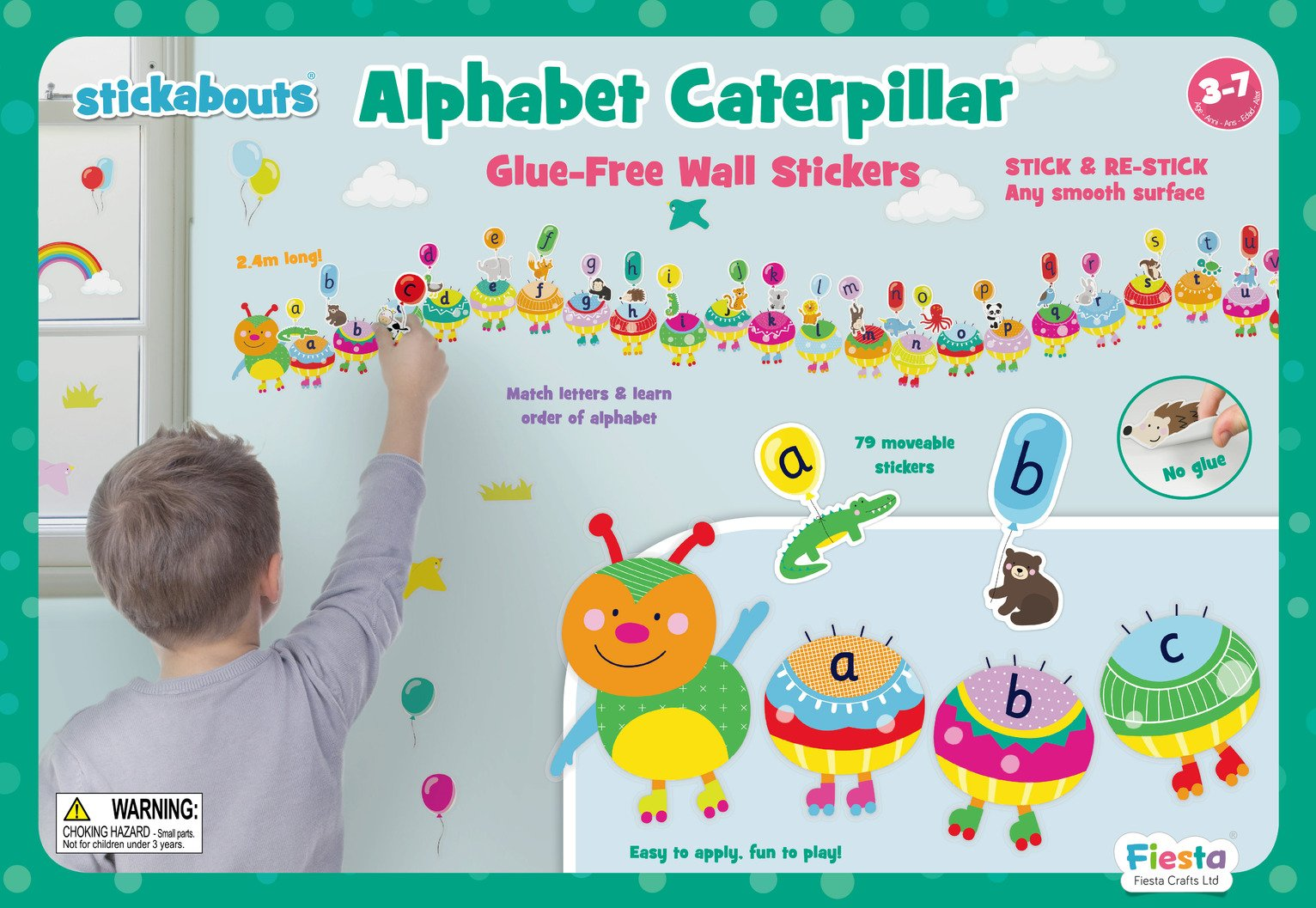 Fiesta Crafts Alphabet Cat Stickers