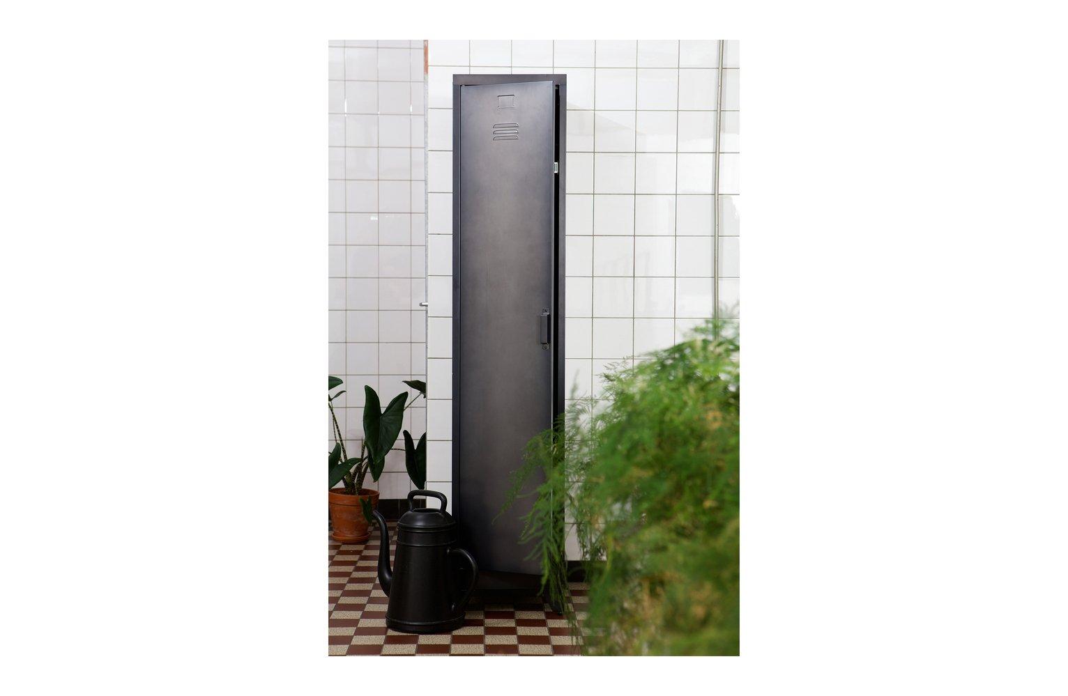 Woood Cas Black 1 Door Locker Cabinet