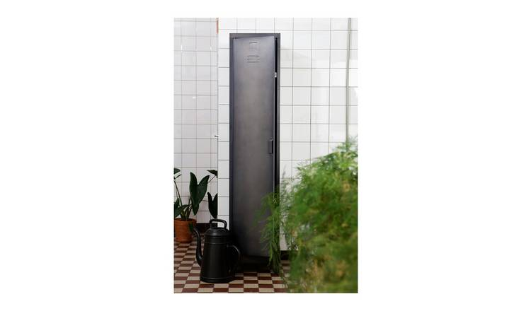 Woood Cas 1 Door Locker Cabinet - Black