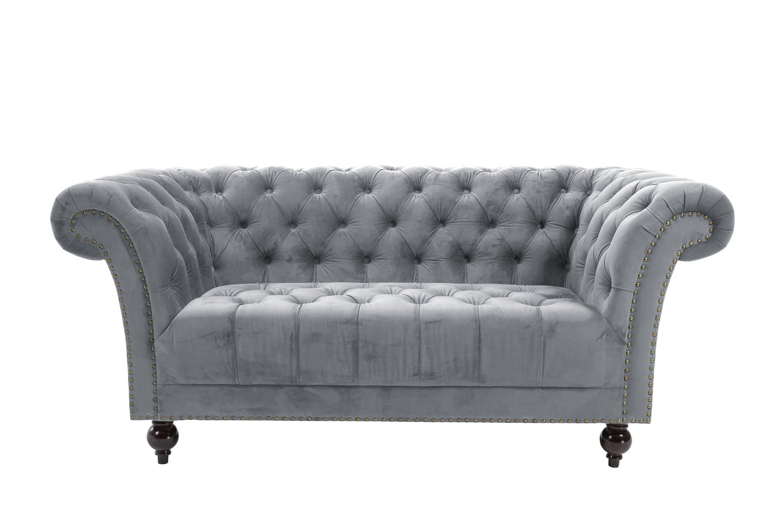 Birlea Chester 2 Seater Fabric Sofa - Grey