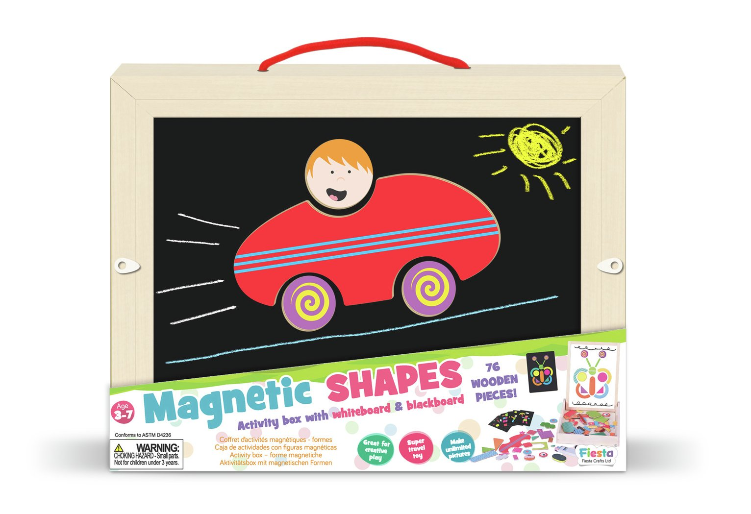Fiesta Crafts Shapes Carry Box
